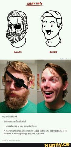 Funny pictures about Shaving off your manhood. Oh, and cool pics about Shaving off your manhood. Also, Shaving off your manhood. Funny Cute, The Funny, Funny Man, That's Hilarious, Destiel, Johnlock, Tumblr Funny, Funny Memes, Meme Meme