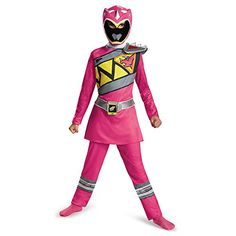 disguise  pink  Power  Ranger  dino  charge  classic  costume  small  4  6x