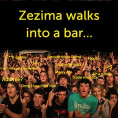 Zezima walks into a bar...