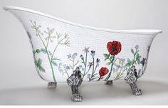 mosaic patterns | Easy Mosaic Patterns , Mosaic bath tub.  Stunningly beautiful.