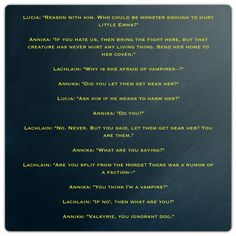 Lachlain phone call with Annika and Lucia (A Hunger like no Other by Kresley Cole -- Immortals After Dark)