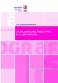 Las Declaraciones publicitarias en la contratación / Sara Zubero Quintanilla