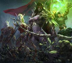 Sylvanas by Hejun Mao Concept artist, Key frame artist, World Of Warcraft 3, Warcraft Art, Fantasy Demon, Dark Fantasy Art, Character Modeling, Character Art, Wow Elf, Sylvanas Windrunner, Angry Animals