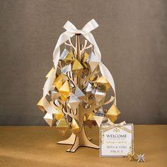 木製 Shinyオーナメントツリー(40個セット) - 引出物・引菓子・プチギフトの「YAMAHI」