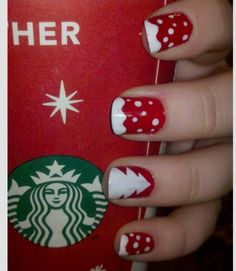 Super Cute Christmas Nails And Super Easy!
