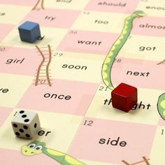 Sight word snakes and ladders! Just type in your own words and it gives you a customized game for FREE.