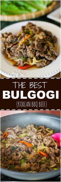 Bulgogi (Korean BBQ Beef) | MyKoreanKitchen.com via @mykoreankitchen