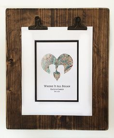 Where It All Began Gift For Husband or Wife Long by HandmadeHQ