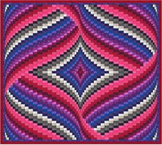 Diamond and Ribbons Bargello Quilt Pattern by QuiltingJays on Etsy
