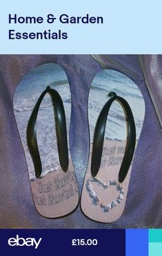 a4f793808cc54 Just Married Flip Flops personalised own photo etc