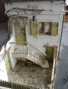 Stone patio stairs outdoor spaces 49 ideas for 2019 Vitrine Miniature, Miniature Rooms, Miniature Houses, Miniature Furniture, Dollhouse Furniture, Dollhouse Dolls, Dollhouse Miniatures, Patio Stairs, House Stairs