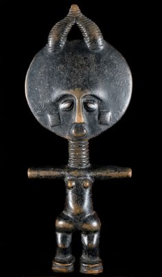 Fertility Doll (Akuaba)Asante Sculpture; Made in GhanaWood