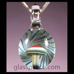 Glass Mushroom Bead - Boro Lampwork Pendant by GlassPeace