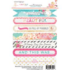 Webster's Pages Beautiful Chic by Adrienne Looman Sentiment Sticker