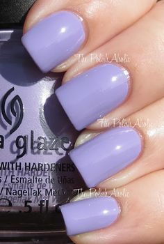 China Glaze - Tart-y For the Party lavender lilac light purple nail polish.