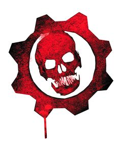 wallpaper Gears of war logo Gangster. Gears Of War 3, Video Game Symbols, Video Game Art, Video Game Logos, Skull Logo, Skull Art, Gear Tattoo, Logo Psd, Badges