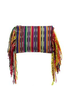 Asos Woven Clutch Bag with Fringing in Multicolor (Multi) | Lyst