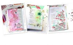 3 x Bible Art Journaling nach Flamingo Art