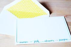 bright liner | letterpress family stationery