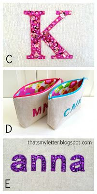 That's My Letter: Sew: Pouches