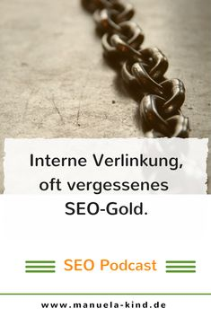 """Die interne Verlinkung ist wirklich leicht einzusetzen, dennoch gibt es viele Websites die diese """"SEO-Gold"""" nicht nutzen. In der aktuellen Episode bekommst du einen Überblick und Tipps zur internen Verlinkung. Google Bing, Event Website, Marketing Tools, Activities, Learning, Tricks, Gold, Easy, Design"""