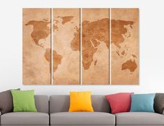 Game of thrones old world map canvas game of thrones map seven vintage world map canvas print world map art map canvas set world map poster world map decor old world map office decor 3 4 5 panel poster gumiabroncs Gallery