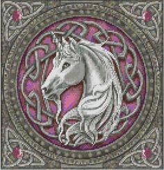 celtic unicorn cross stitch pdf chart pattern by TheEndlessKnot, $4.00