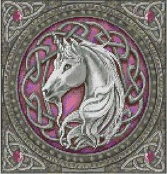 celtic unicorn cross stitch pdf chart pattern by TheEndlessKnot, $4.00