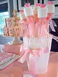 ballerina baby shower ideas - Centerpieces