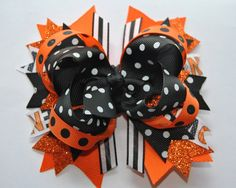Halloween Bow,Boutique Hair bow, .