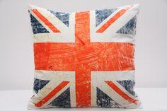 Białe poszewki z motywem flagi angielskiej
