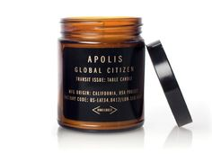 'CYPRESS FIG'... Transit Issue Table Soy Wax Candle, in a reusable Amber glass apothecary jar... from; Apolis