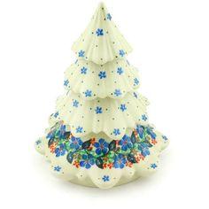 Polish Pottery 7-inch Christmas Tree | Boleslawiec Stoneware | Polmedia H3729G | Polmedia