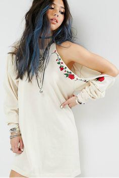 Buy Milk It Vintage Military Dress With Cold Shoulder & Embroidery at ASOS. With free delivery and return options (Ts&Cs apply), online shopping has never been so easy. Get the latest trends with ASOS now. Asos, High Neckline Dress, Casual Dresses For Women, Clothes For Women, Military Dresses, Style Ethnique, Jumper Dress, Ethnic Fashion, Latest Fashion Clothes
