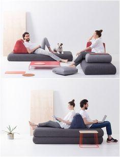 Sofá de módulos para pequeños apartamentos