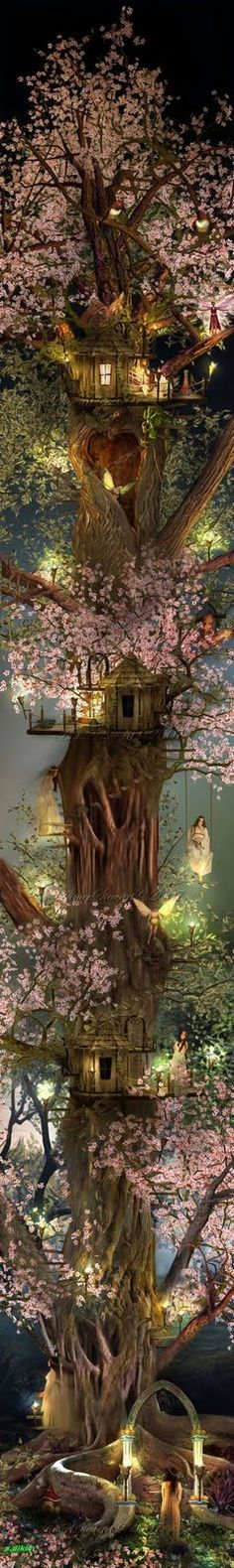 I do believe in Fairies! I do! I do! I do believe in this Fairy tree house!  (I wish it was real!)