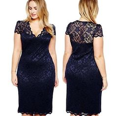 Sexy Women Plus Size Lace Short Sleeve Party Evening Night Gowns Dress at Banggo. - - Sexy Women Plus Size Lace Short Sleeve Party Evening Night Gowns Dress at Banggood Source by Trendy Dresses, Plus Size Dresses, Casual Dresses, Short Dresses, Formal Dresses, Cheap Dresses, Girls Dresses, Night Gown Dress, Party Dress