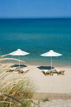 Sani Resort, Halkidiki, Greece, I'm comiiiiiiing Thessaloniki, Beautiful Islands, Beautiful Beaches, Sani Beach, Places To Travel, Places To Visit, Halkidiki Greece, Greece Islands, Relax