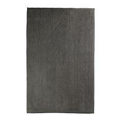 IKEA - TOFTBO, Badematte, grau, 60x120 cm, , Besonders weich, saugfähig, schnell trocknend, da aus Microfaser.
