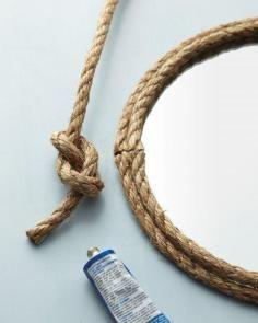 DIY Tutorial DIY Mirror / DIY Rope Mirror - Bead&Cord