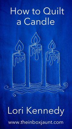 Lori Kennedy Quilting, FMQ, Candle