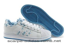 huge selection of a74d1 72710 Superstar 2 Adidas Bianche Blu Casual Scarpe Donna (Adidas Nuove)