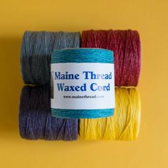 "Maine Thread Waxed Cord - 0.40"" - Turquoise :: Shop"