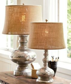 Broyhill table lamps terrific table lamps pinterest spray your way to a mercury glass lamp mozeypictures Image collections