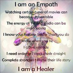 I am an empath.