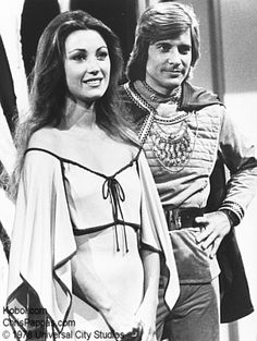 Serina & Starbuck Star Trek Series, Tv Series, Battlestar Galactica Cast, Lorne Greene, Robert Sean Leonard, Space Shows, Elvis And Priscilla, Jane Seymour, Fantasy Films