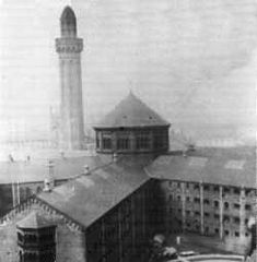 Strangeways Prison in the early 1900s showing its Victorian Panopticon design.