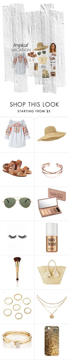 """Day at the beach"" by laurenjames16 ❤ liked on Polyvore featuring Free People, Helen Kaminski, RED Valentino, Givenchy, Urban Decay, Violet Voss, Benefit, tarte, Giselle and Loren Stewart"