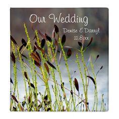 Amber Personalized Wedding Album Vinyl Binders