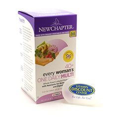 Bundle  2 Items 1 Bottle of 40 Plus Every Woman One Daily By New Chapter  96 Tablets and 1 VDC Pill Box *** Find out more about the great product at the image link. (This is an affiliate link and I receive a commission for the sales) #Multivitamins